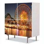 Comoda cu 4 Usi Art Work Urban Orase Ferris Wheel, 84 x 84 cm