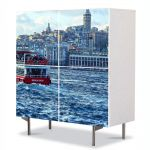 Comoda cu 4 Usi Art Work Urban Orase Istanbul Turcia, 84 x 84 cm