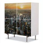 Comoda cu 4 Usi Art Work Urban Orase Londra Regatul Unit, 84 x 84 cm