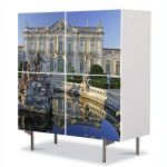 Comoda cu 4 Usi Art Work Urban Orase Palat in Portugalia, 84 x 84 cm