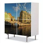Comoda cu 4 Usi Art Work Urban Orase Saint Petersburg Rusia, 84 x 84 cm