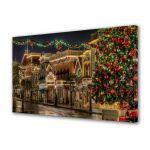 Tablou Canvas Iarna Orasul decorat
