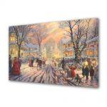 Tablou Canvas Iarna Atmosfera festiva