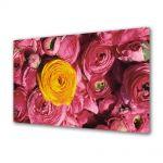Tablou Canvas Luminos in intuneric VarioView LED Flori Floare galbena si flori violet