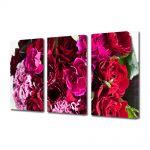 Set Tablouri Multicanvas 3 Piese Flori Buchet de flori