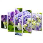 Set Tablouri Multicanvas 5 Piese Flori Hortensii