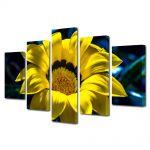Set Tablouri Multicanvas 5 Piese Flori Petale fine