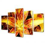 Set Tablouri Multicanvas 5 Piese Flori Liliac asiatic
