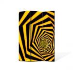 Paravan de Camera ArtDeco din 3 Panouri Abstract Decorativ Spirala spre infinit 105 x 150 cm