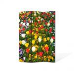 Paravan de Camera ArtDeco din 3 Panouri Peisaj O multitudine delori 135 x 180 cm