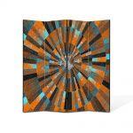 Paravan de Camera ArtDeco din 4 Panouri Abstract Decorativ Scara abstracta 140 x 180 cm