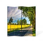 Paravan de Camera ArtDeco din 4 Panouri Peisaj Drum umbrit 105 x 150 cm