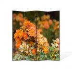 Paravan de Camera ArtDeco din 4 Panouri Peisaj Trandafiri salbatici 105 x 150 cm