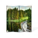 Paravan de Camera ArtDeco din 4 Panouri Peisaj Cascada mare 105 x 150 cm