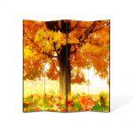 Paravan de Camera ArtDeco din 4 Panouri Peisaj La umbra copacului 140 x 180 cm