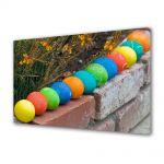 Tablou Canvas Sarbatori Paste Linie de culori de oua