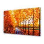 Tablou Canvas Peisaj Drum printre copaci