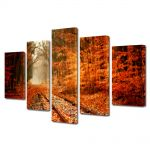 Set Tablouri Multicanvas 5 Piese Peisaj Vesnic