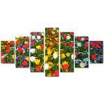 Set Tablouri Multicanvas 7 Piese Peisaj O multitudine de culori