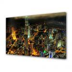 Tablou Canvas Luminos in intuneric VarioView LED Urban Orase Turnurile Petronnas in Kuala Lumpur