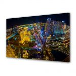 Tablou Canvas Luminos in intuneric VarioView LED Urban Orase Las Vegas SUA