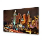 Tablou Canvas Luminos in intuneric VarioView LED Urban Orase Las Vegas Nevada SUA