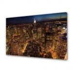 Tablou VarioView MoonLight Fosforescent Luminos in Urban Orase Viata de noapte in New York