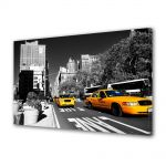 Tablou Canvas Luminos in intuneric VarioView LED Urban Orase Taxi in New York