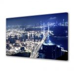 Tablou Canvas Luminos in intuneric VarioView LED Urban Orase Hong Kong