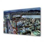 Tablou Canvas Luminos in intuneric VarioView LED Urban Orase Seoul Coreea de Sud