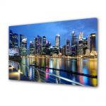 Tablou Canvas Luminos in intuneric VarioView LED Urban Orase Singapore