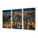 Set Tablouri Multicanvas 3 Piese Metropola in noapte