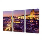 Set Tablouri Multicanvas 3 Piese Orasul Praga