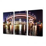 Set Tablouri Multicanvas 3 Piese Podul din Tokyo