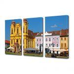 Set Tablouri Multicanvas 3 Piese Piata Unirii Timisoara