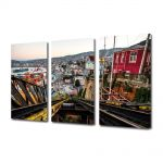Set Tablouri Multicanvas 3 Piese Valparaiso
