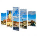 Set Tablouri Multicanvas 5 Piese Centrul Clujului