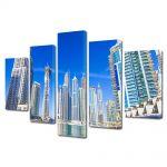 Set Tablouri Multicanvas 5 Piese Cladiri in Dubai