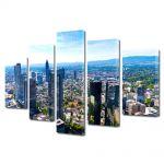 Set Tablouri Multicanvas 5 Piese Panaroma Frankfurt