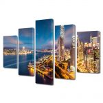 Set Tablouri Multicanvas 5 Piese Port in Hong Kong China