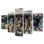 Set Tablouri Multicanvas 5 Piese Manhattan New York
