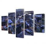 Set Tablouri Multicanvas 5 Piese Melbourne Australia