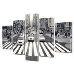 Set Tablouri Multicanvas 5 Piese Trecere de pietoni in New York