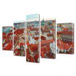 Set Tablouri Multicanvas 5 Piese Praga