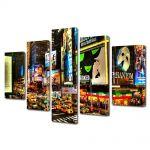Set Tablouri Multicanvas 5 Piese Reclame in New York