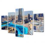 Set Tablouri Multicanvas 5 Piese Emiratele Arabe Unite