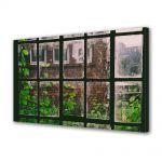 Tablou Canvas Luminos in intuneric VarioView LED Vintage Aspect Retro Plante la fereastra