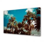 Tablou Canvas Luminos in intuneric VarioView LED Vintage Aspect Retro Coroane de palmieri