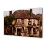 Tablou Canvas Vintage Aspect Retro Pub englezesc