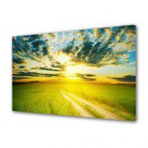 Tablou Canvas Peisaj Apus peste drum